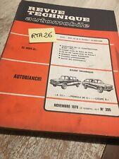 Revision Technik Automobil Autobianchi A111 Primula 65C Coupé S RTA