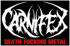 CARNIFEX Ltd Ed Discontinued RARE New Sticker +FREE Metal/Hardcore/Rock Stickers