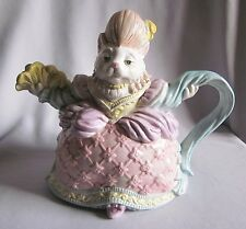 Figural Teapot Tea Pot Fitz & Floyd Reigning Cats & Dogs 1990 Marie Cattoinette