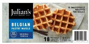 Julian's Recipe Belgian Pastry Waffles, Original Vanilla 18 CT 35 OZ
