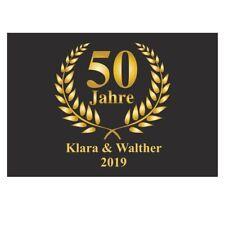 Fußmatte mit Namen - Geschenk Goldene Hochzeit 50 Jahre Dekoration Hochzeitstag