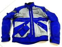 Spidi On Track Padded Motorcycle Jacket Coat Women's L Large Model T59 Blue