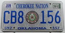 """USA Nummernschild aus Oklahoma """"Cherokee Nation"""" Indianerschild mit Wappen.11466"""