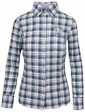 L' ARGENTINA POLO Damen Bluse Shirt Größe 38 M 100% Baumwolle Cotton Kariert NEU