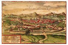 Montpellier Languedoc-Roussillon France bird's-eye view map Hogenberg ca.1572