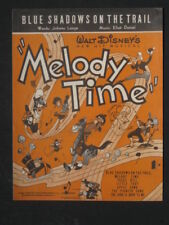 WALT DISNEY'S- BLUE SHADOWS ON THE TRAIL -40's sheet music from MELODY TIME