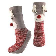 Damen Weihnachten Rentier Socken mit rutschfestem Griffe, Winter Geschenk, sk464