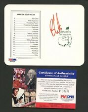 Ben Curtis Golfer Signed Augusta National Scorecard PSA/DNA COA AUTO