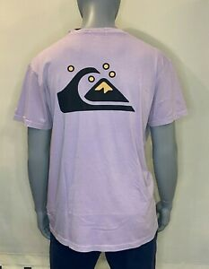 Quiksilver - T Shirt - Mens - Og Classic - Pastel Lilac - Surf Clothing - Tee