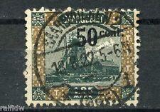 Saargebiet 50C/1,25M. Ansichten 1921 Aufdruckfehler Michel 78 VII geprüft (S6591