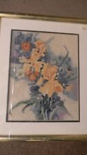 Framed Elsa Williams GERE LEEDS Needlepoint MORNING FLOWERS Iris 16x19 JCA New