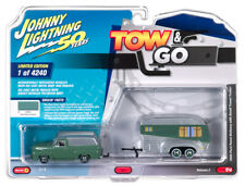 Johnny Lightning Tow & Go 1:64 1955 Ford Panel Delivery w Travel Trailer VER B