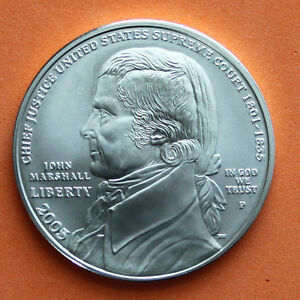 2005 Chief Justice John Marshall BU Silver Dollar US $1 Coin ONLY Commemorative