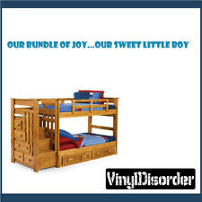 Our bundle of joy…Our sweet little boy Wall Quote Mural Decal-nurseryquotes06