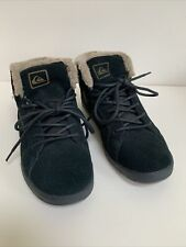 Quicksilver High Top Trainers UK 7 Black Suede Surf Skate Boarding ⭐️New⭐️
