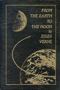 Jules Verne: Around the Moon/Earth to the Moon 1st Easton Press in Leather. 2Bks