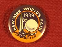 Vintage New York World's Fair 1939 Button Pin Back