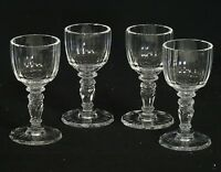 """LOT of 4 MARIA THERESA CORDIAL LIQUOR STEMWARE GLASS BY MOSER ~ 4"""""""