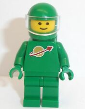 Lego Classic Space Man x 1 Green Minifigure with Helmet Visor & Oxygen Tanks