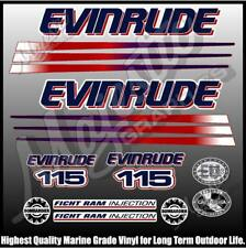 EVINRUDE 115 hp - FICHT BOMBADIER - OUTBOARD DECALS