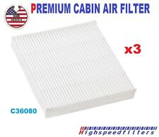 3x C36080 CABIN AIR FILTER for HONDA Fit Insight CR-Z 2009-16 CF11182   800143P