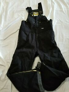 Walls Workwear Black Insulated Bib Overalls Size Large Thick Work Wear