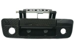 Dodge Ram 1500 2500 3500 Tailgate Handle with Camera & Keyhole Carbon Fiber Look