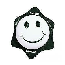 Oxford Smiley Knee Sliders For Motorycle Motorbike Leathers White OF264 T