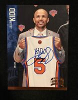 JASON KIDD 2012 PANINI THREADS AUTOGRAPHED SIGNED AUTO BASKETBALL CARD 27 HOF