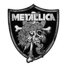 Metallica Raiders Skull sew-on cloth patch 110mm x 90mm  (ro)