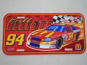 "Bill Elliott / Orig. Vintage NASCAR license plate / New cond. - 6  x 12"" inches"
