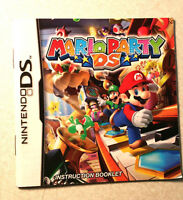 Mario Party DS Instruction Booklet Nintendo DS Book Only Manual Insert