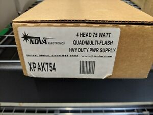 Nova XPAK754 4 Head 75 Watt Quad Multi Flash Heavy Duty Power Supply