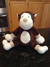 Piccolo Bambino Plush Brown White Tan Monkey Stuffed Animal Baby Toy PB EUC