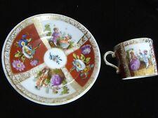 More details for antique miniature cabinet cup meissen augustas rex  helena wolfsohn 19th century