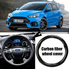 For Ford Focus Car Carbon Fiber Leather Steering Wheel Cover Sport Racing Case