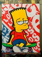 The Simpsons Art Bart Acrylic Painting Blacklight