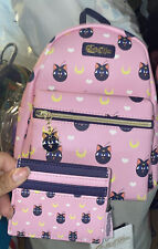 Loungefly Sailor Moon Luna P Mini Backpack And Wallet Card Holder Set NWT RARE