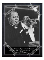 Historic Louis Armstrong  At the Loyola Field House Jazz Postcard
