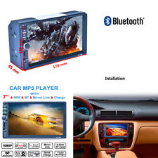Double 2DIN Touch Screen MP5 MP3 Player Bluetooth AM RDS FM Radio Reverse View