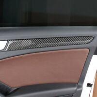 Carbon Fiber Car Door Trim Strips 4Pcs For Audi A4 B8 2009-2015 Auto Accessories