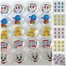 10 x clear childrens  buttons choice of  7 designs  15mm  ( size 24)