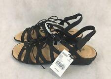 cf8fdf10e281 Cobbie Cuddlers Glenda Ghillie Women s Sandals - Black - Size 6 Wide Width