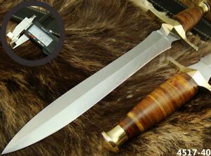 "SUPERB HANDMADE 15"" STAINLESS STEEL DAGGER HUNTING KNIFE W/SHEATH NEW (4517-40"