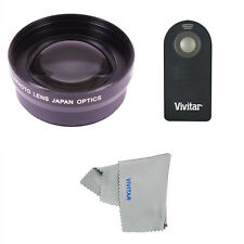 Telephoto Zoom Lens + REMOTE CONTROL for Canon Rebel EOS DSLR T3 T4 SL1 T5 T5I
