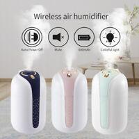 330ml Wireless Humidifier Ultrasonic USB Charging Air Diffuser Purifier Atomizer