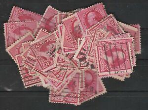 USA Scott #  220 2¢ Carmine Washington  used lot of 100 stamps ( 220-100-1)