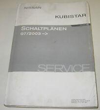Werkstatthanbuch Elektrik Nissan Kubistar X76 Renault Kango Typ KC Schaltpläne