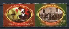 More details for albania 2016 mnh autonomous region korca 100th anniv 2v set politics stamps