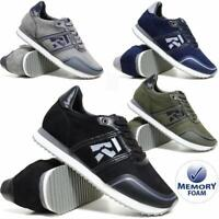 Mens Memory Foam Trainers New Casual Grip Sole Walking Driving Sports Gym Shoes